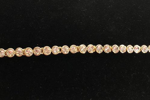 Swarovski crystal round line bracelet - GOLD