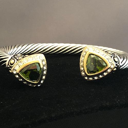 Designer look Triangular shaped bracelet on either side