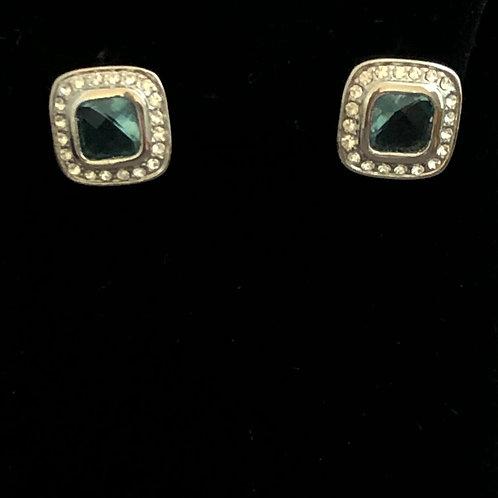 Designer look Square pierced earring in cubic zircon