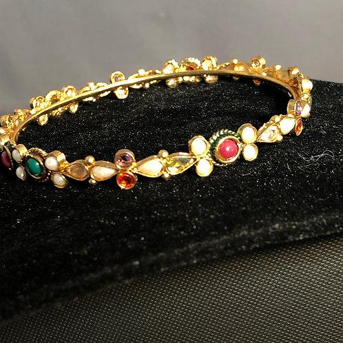Indian bangles with semi-precious gemstones