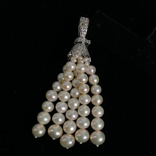 Sterling silver white Freshwater Cultured pearl enhancer