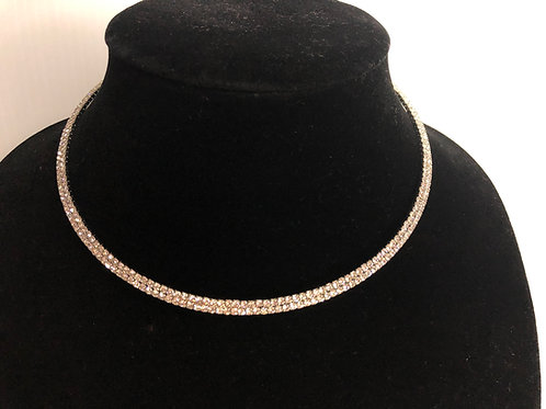 ROSE GOLD Austrian crystal choker - One size fits all.