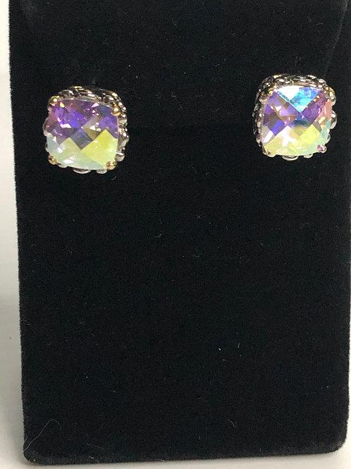 Designer AURORA BOREALISCubic Zircon lever back earrings