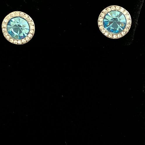 Swarovski crystal stud earrings - SKY BLUE