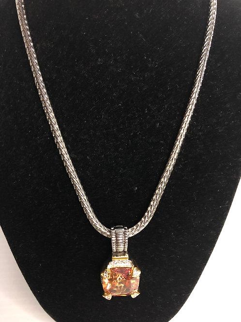Designer look champagneCubic Zircondetachable pendant