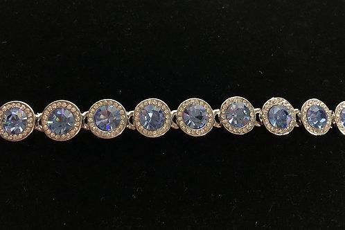 Swarovski crystal round line bracelet -Blue Violet