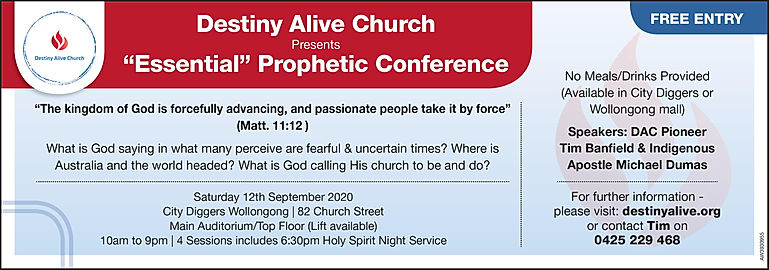 Essential Prophetic Conference - Adverti