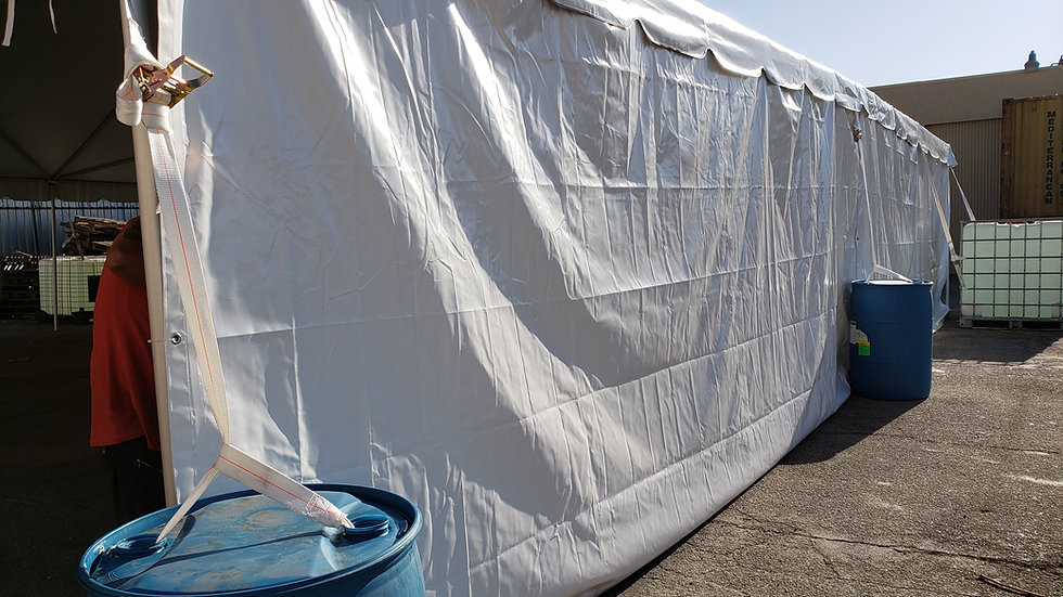 8x20 tent wall SOLID 16oz bkk out