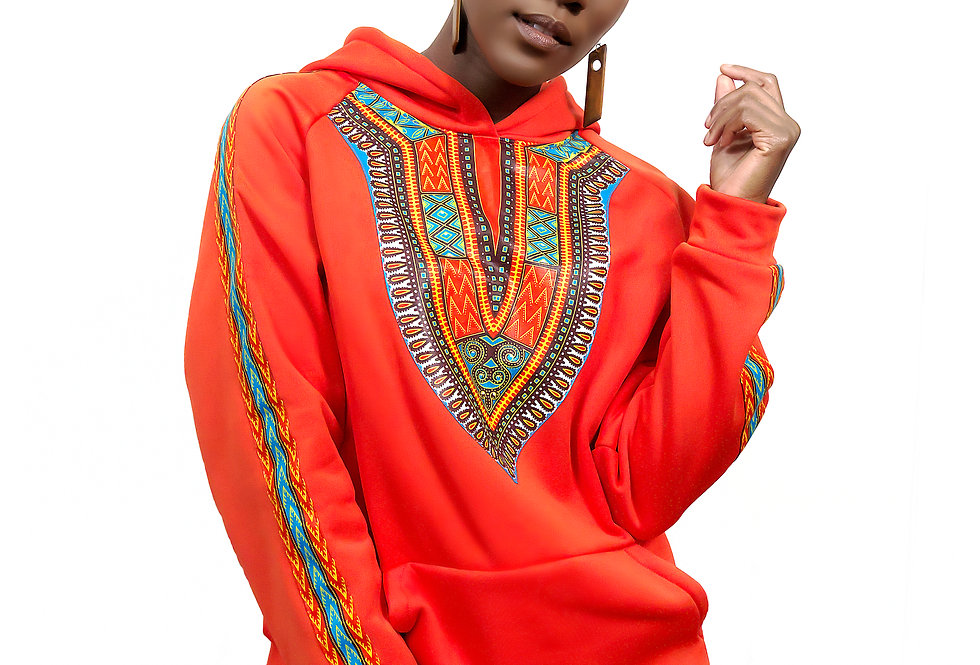 Unisex Authentic Dashiki Clothed Hoodie (Heritage Hoodie)