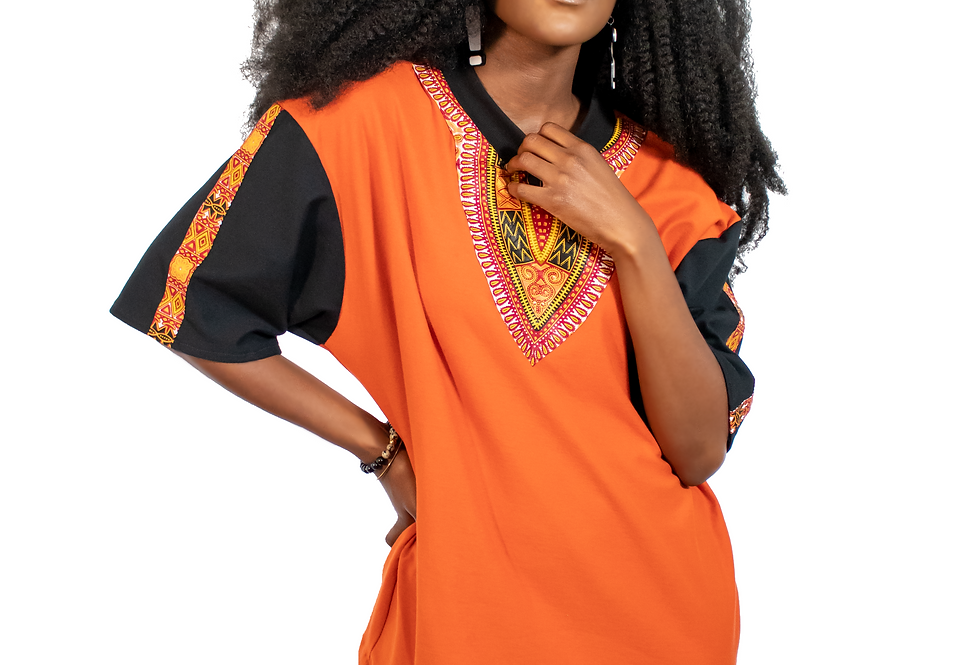 Dashiki Over-sized T-Shirt