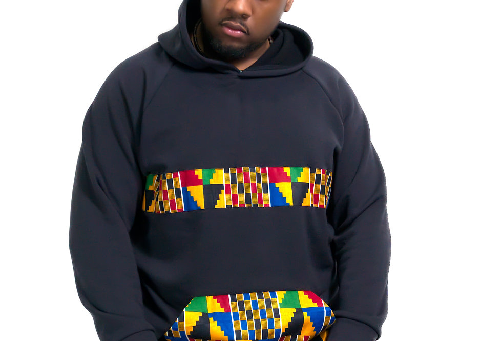 Unisex Authentic Kente Clothed Hoodie (Heritage Hoodie)