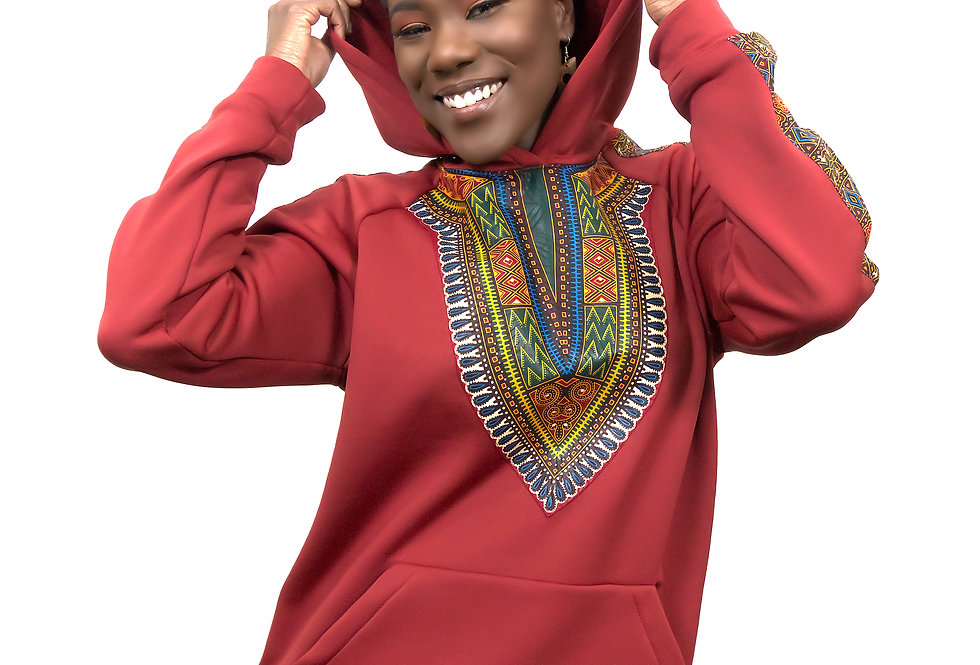 Women's Authentic Dashiki Clothed Hoodie (Heritage Hoodie)