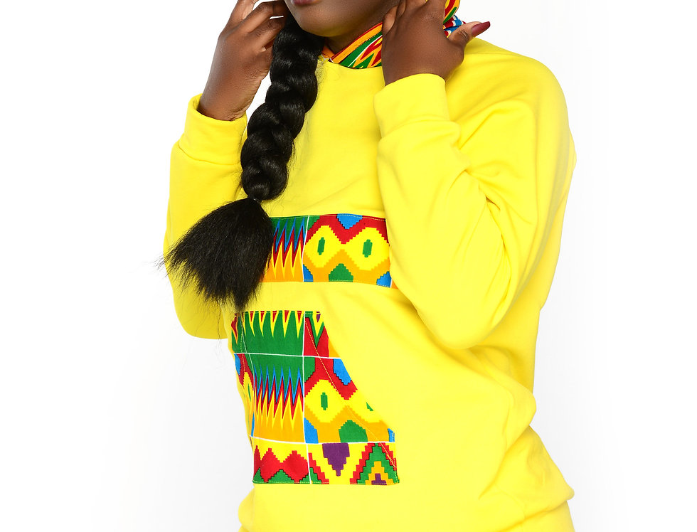 Unisex Authentic Kente Clothed Patterned Hoodie (Limited Edition)
