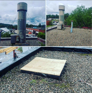 Chimney Stack Removal and Cover