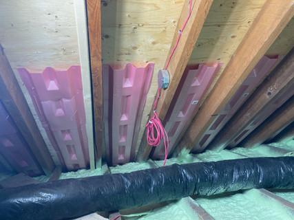 Durovent installation after Spray Foam