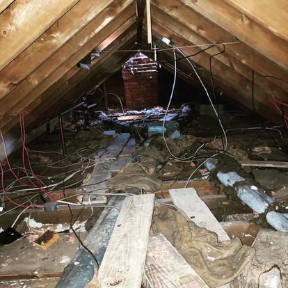 Century Home Attic Debris