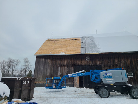 Steel Barn Roof Replacement