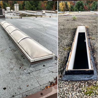 Skylight and Flashing Removal