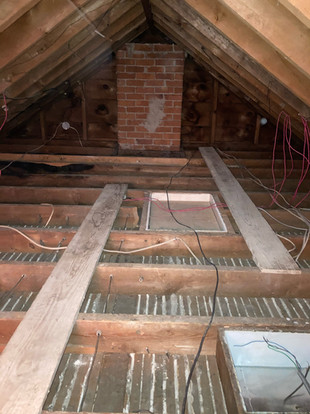 Century Home Attic Cleaned Up