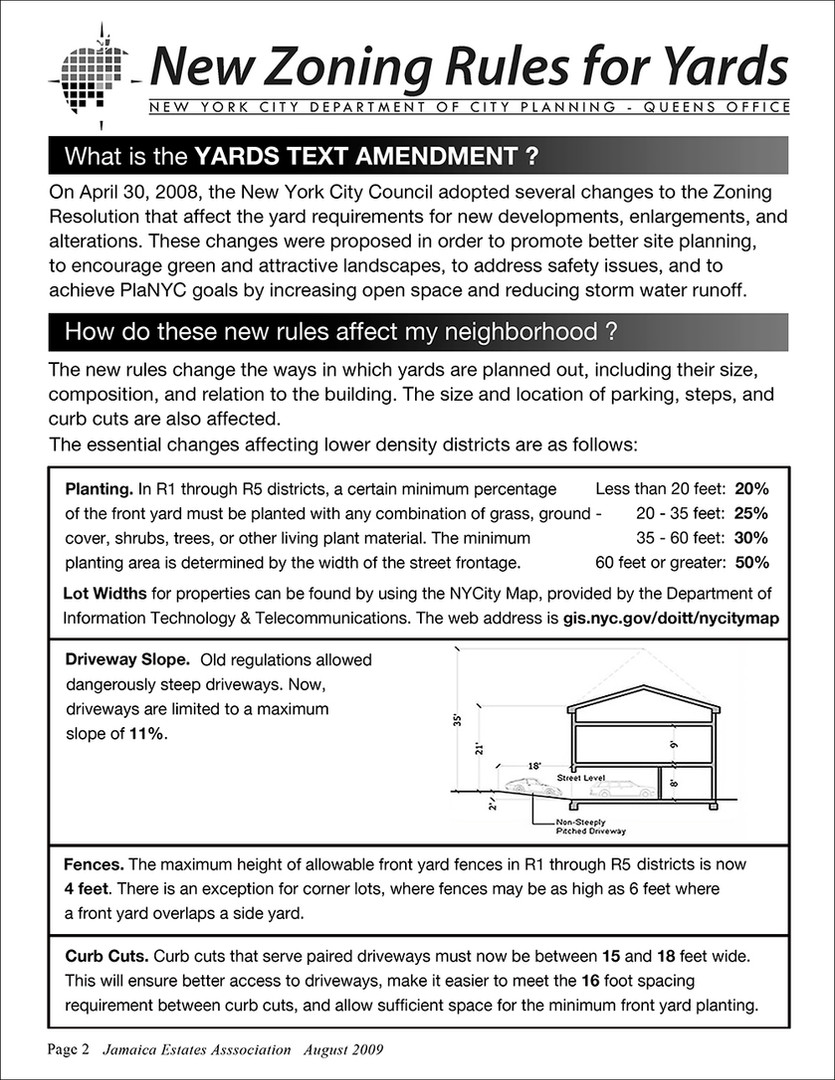 Yards Text Amendment Bulletin Page 2