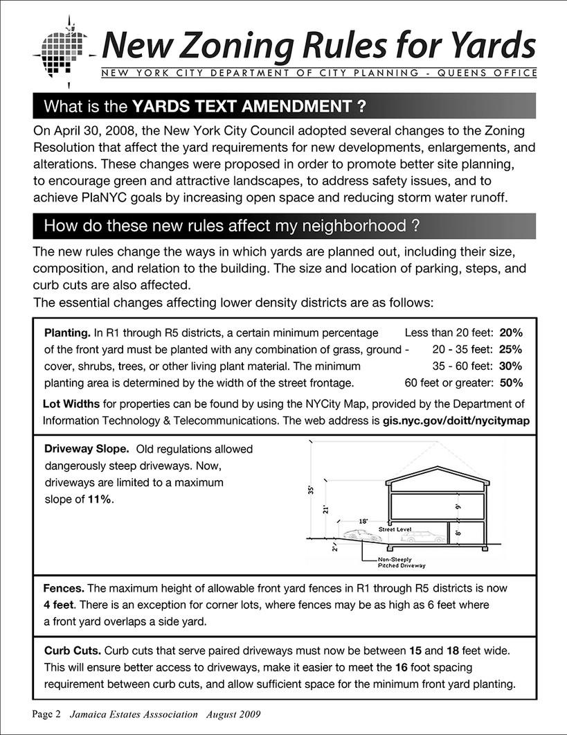 Yards Text Amendment Bulletin Page 2