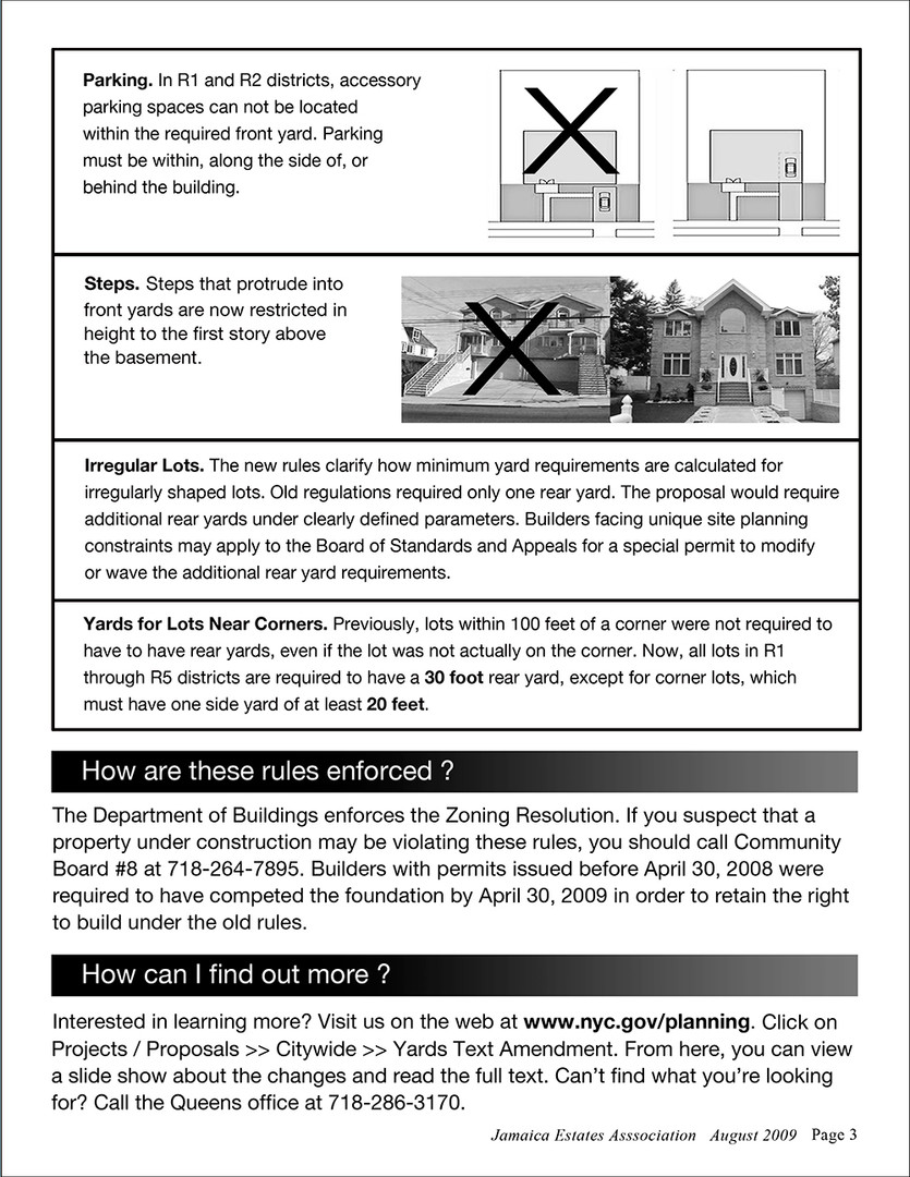 Yards Text Amendment Bulletin Page 3