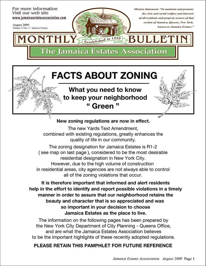 Yards Text Amendment Bulletin Page 1