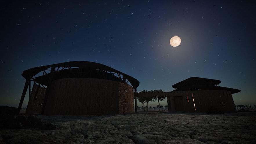 Vista nocturna escuela Wayuu