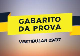 Gabarito do Vestibular FASB (29/07/2018)