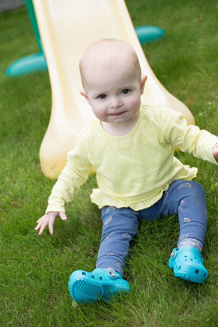 Family Photography Garden Slide