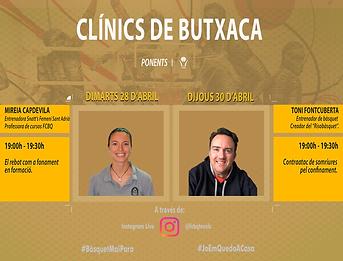 Cartell Clinic Butxaca Mireia i Foncu.pn