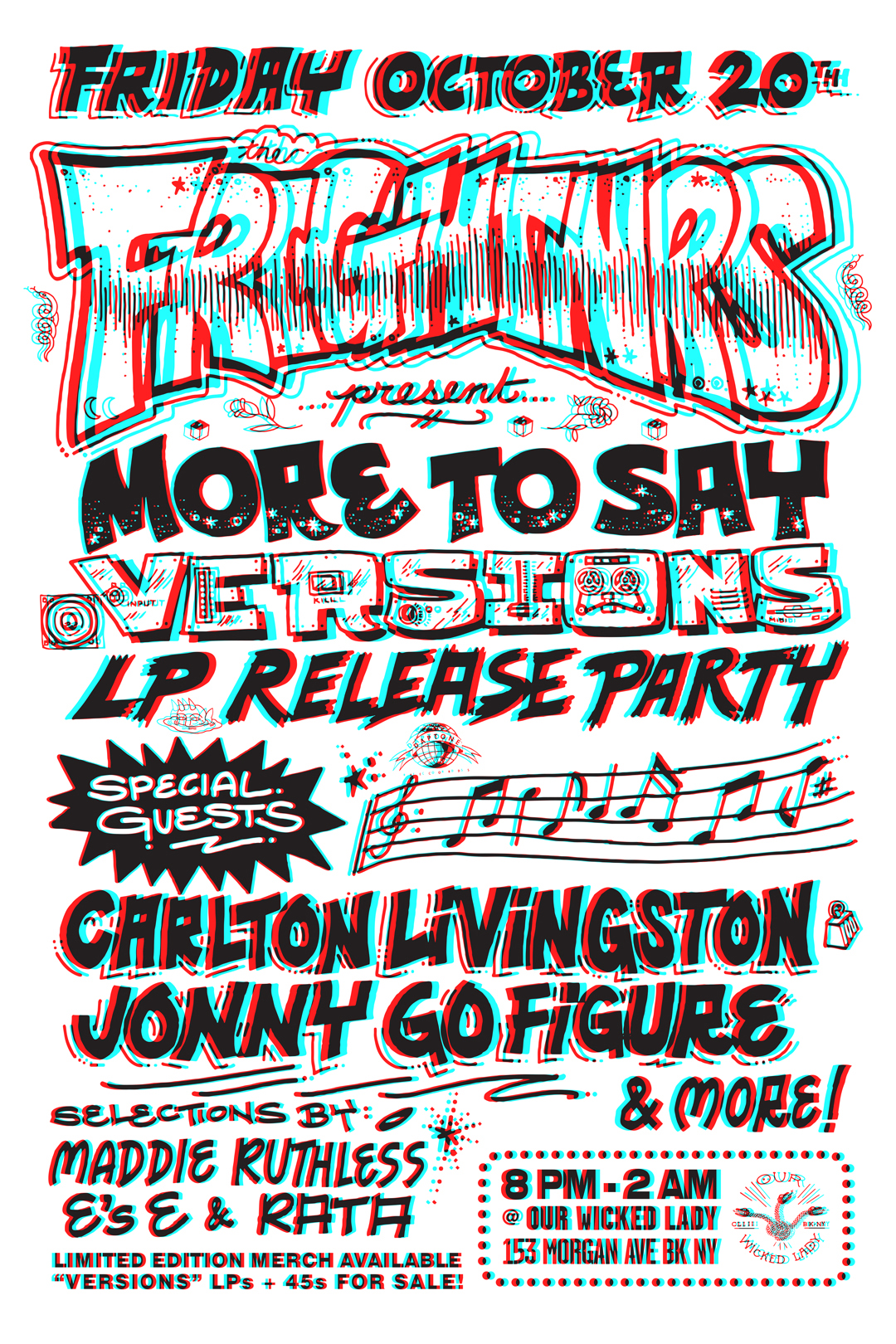 MORE TO SAY VERSIONS RELEASE FLYER