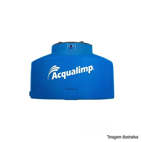 Caixa D'Água 500 Litros Azul Com Tampa Rosca Acqualimp