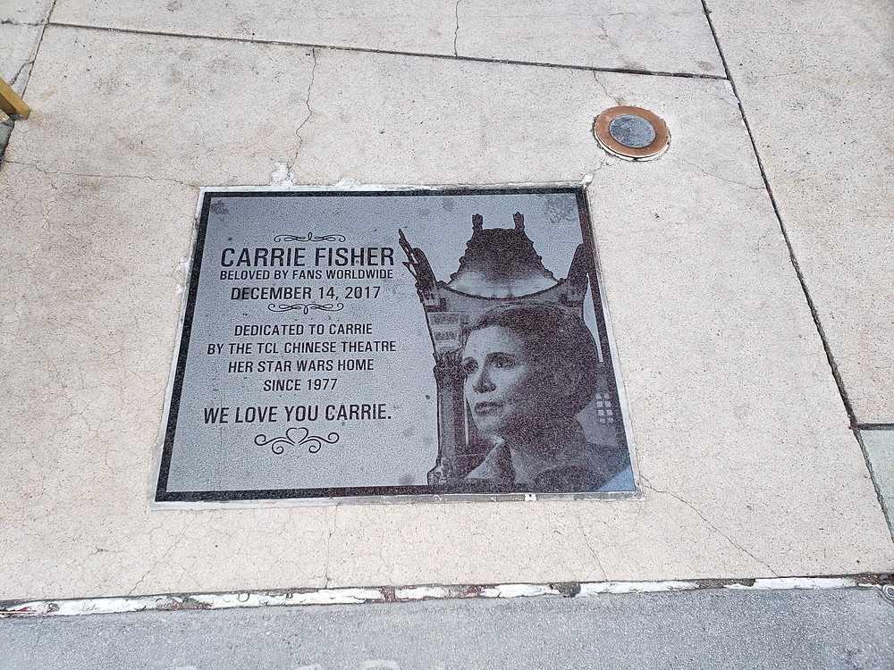 Carrie Fisher honored Chinese Theater