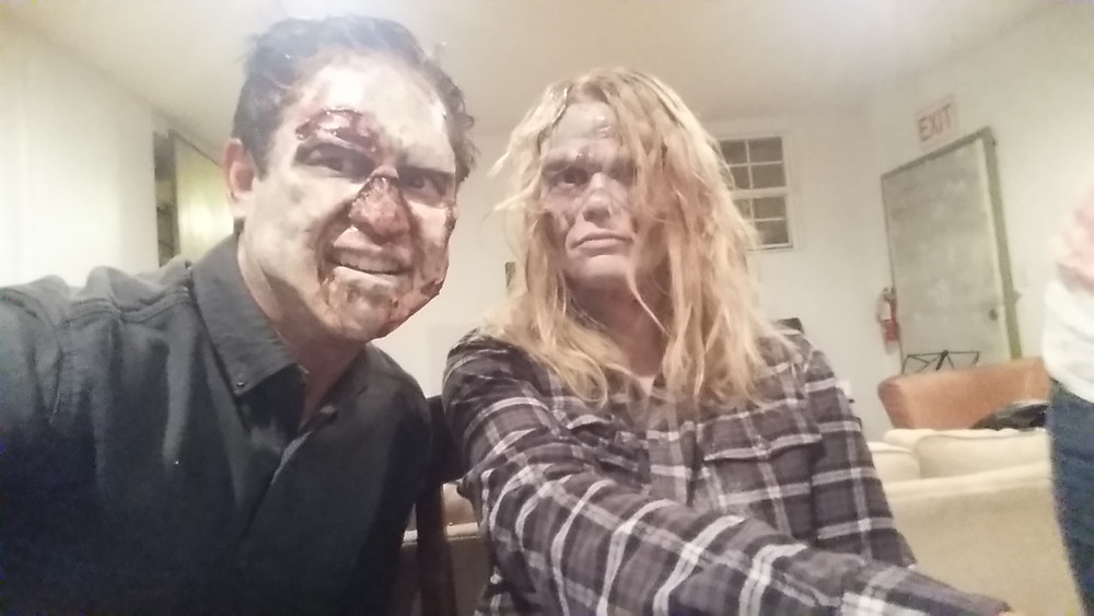 Richard and Holly as zombies