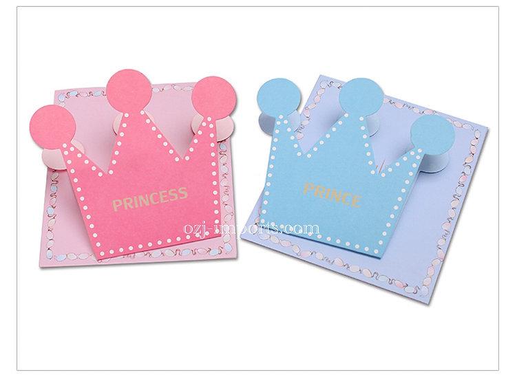 メッセージカード王冠_Pink&Blue
