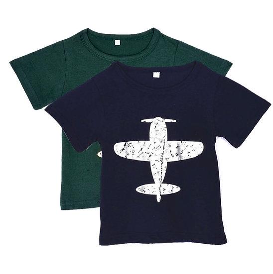 飛行機Tシャツ_100~130cm