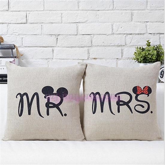 ペアクッションカバー/MR&MRS Mouse