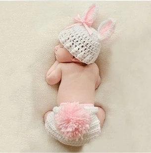 ベビーコスチューム_ホワイトウサギ