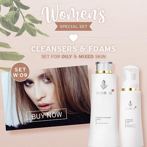 SET W09 - CLEANSERS & FOAMS - Set for oily & mixed skin