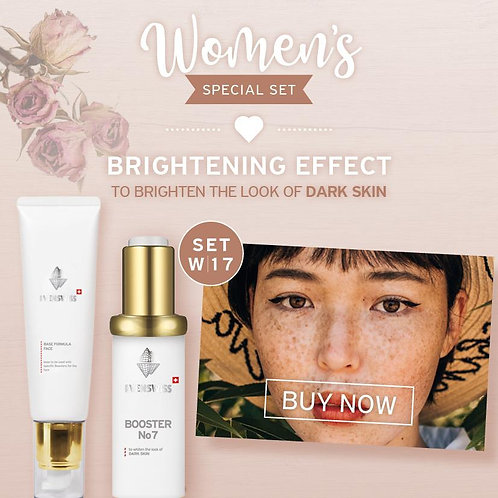SET W17 - BRIGHTENING EFFECT - To brighten the look of DARK SKIN