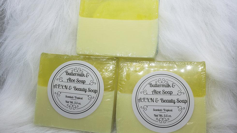 "Buttermilk & Aloe ""Tropical"" Soap"