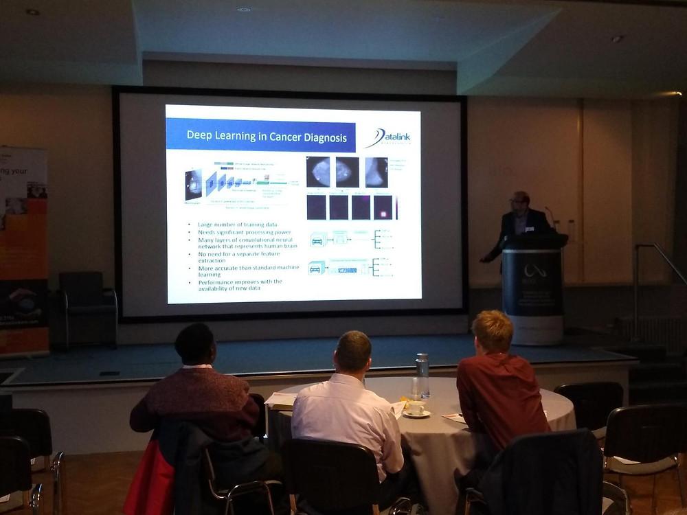 Dr Arash Ghadar speaking at Medilink