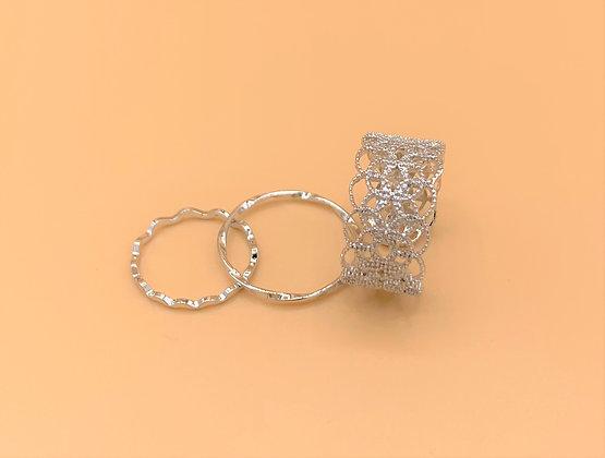 Mixed Layered Ring Set