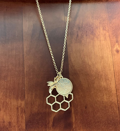 Beehive Pendant Necklace
