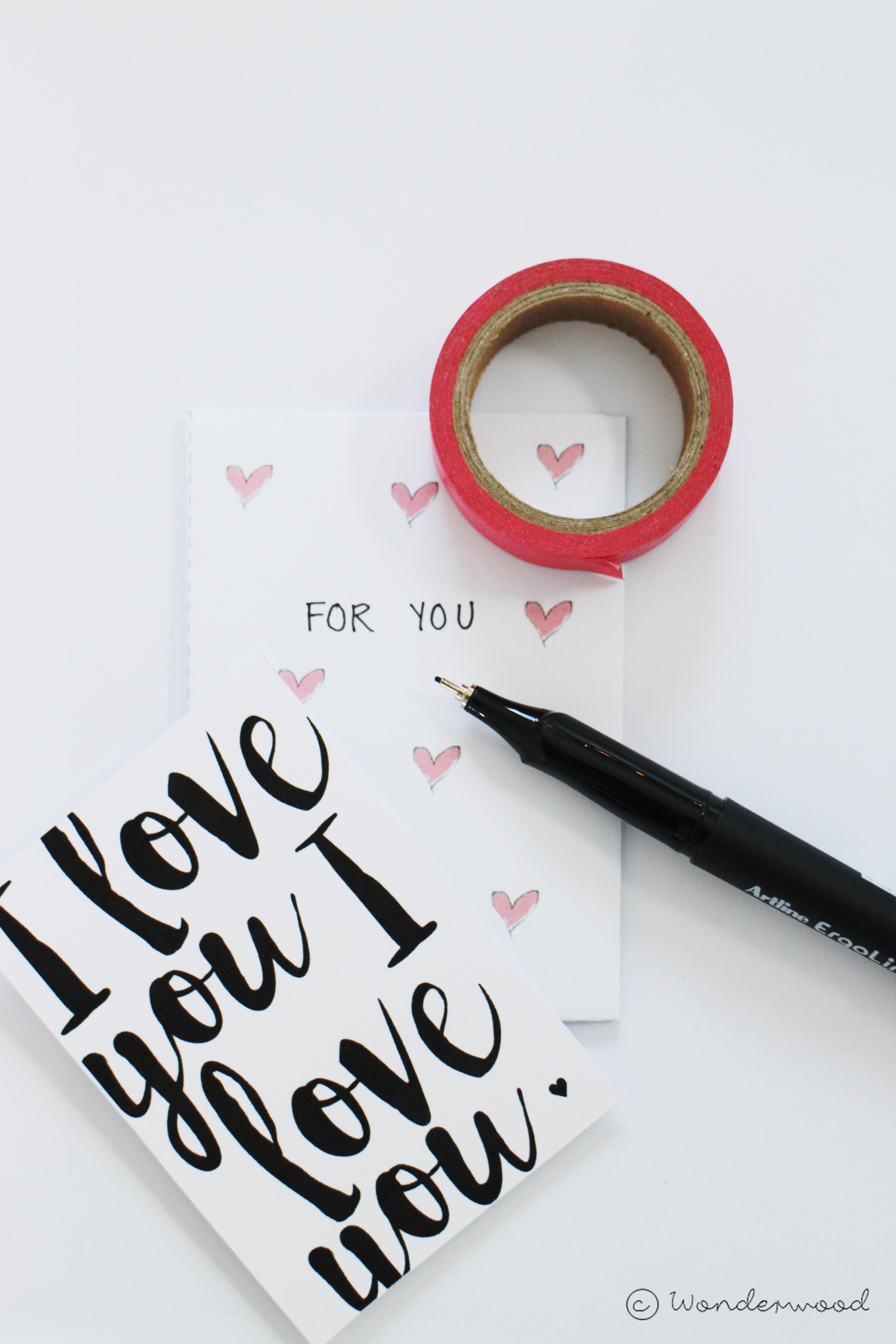 v-day cards + envelopes
