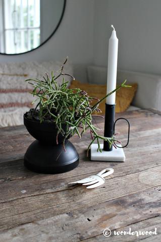 diy minimalistisk blomsterpotte // diy minimalist planter