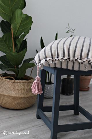 diy putetrekk av skjerf // diy scarf pillowcase