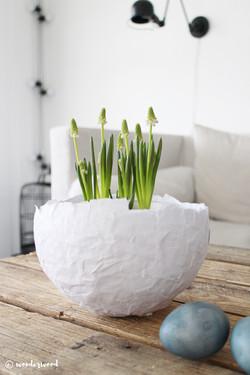 paper mache egg bowl