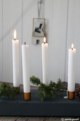 TIPS TIL HJEMMELAGDE JULEGAVER 3: diy lysestake av tre og kobber // HOMEMADE CHRISTMAS GIFT IDEA 3: